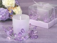Elegant Crystal Flower Candle Holder
