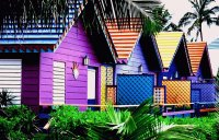 Colorful Beach Homes  Key West  USA