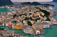 Alesund city  Norway