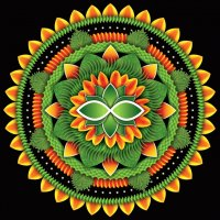 Green and Orange Mandala