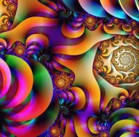 Colorful fractal