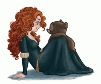 brave merida bear sketch