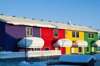 Inuvik village close to the Artic Circle  Canada