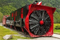 White Pass Railroad  Snow plow  Skagway  Alaska