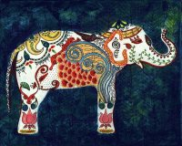India inspired  Queen Elephant
