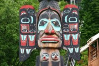 Part of a Totem  Ketchikan  Alaska