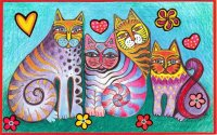 4 Cats by Karin Charlotte