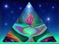 Pyramid Violet Flame Art