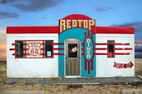 Red Top Diner on Route 66  Edgewood  New Mexico