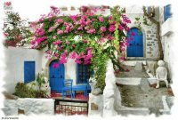 House in Kritsa  Crete  Greece