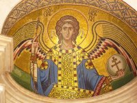 Mosaic of Archangel Gabriel Ayia Aiketerini Church