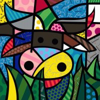Cow by Romero Britto