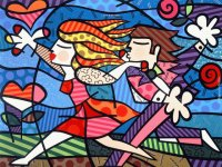 Love Blossom  by Romero Britto