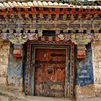 Old Tibetan House in a small village
