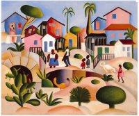In the village by Tarsila do Amaral