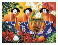 Hawaiian Hula Dancers by Warren Lapozo