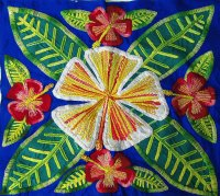 Embroidered Cook Island Hibiscus