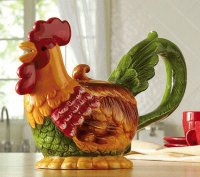 Country Rooster Teapot