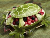 Artistic Turtle fruit bowl
