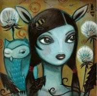 Girl with Owl  by Candace Metzger