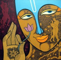 Indian figurative painter  Krisna Ashok