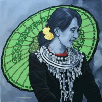 Mrs Aung San Suu Kyi , art from Myanmar