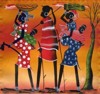 African Tingatinga art by Elaine Bellazza