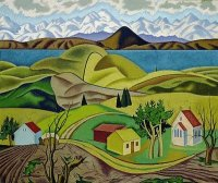 Central Otago by Rita Angus  New Zealand