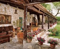 Mexican Hacienda with open porch
