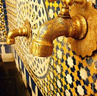 Hand carved fixtures and Talavera tiles