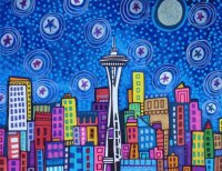 Seattle city by Heather Galler