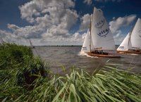Sailing in the Dutch province  Friesland
