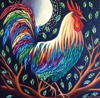 Colored Rooster