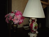 Gingerjar lamp with flowers
