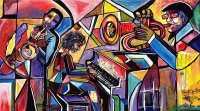 Jazz art by Everett Spruill