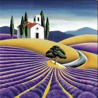 Lavender field by Diana Adams