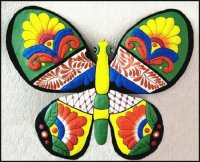 Hand Painted Metal Butterfly