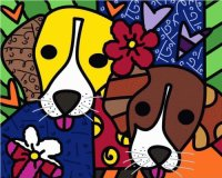 Dogs by Romero Britto