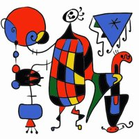 Geomatric painting by Joan Miró