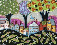 Abstract Folk art by Karla Gerard