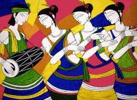 Tribal Dance by Jiaur Rahman