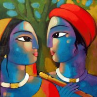 Indian painting by Sekhar Roy