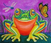 Smiling Frog by Nick Gustafson