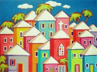 Colorful Carribean Houses by Korpita