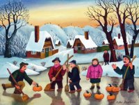 Curling with Pumpkins