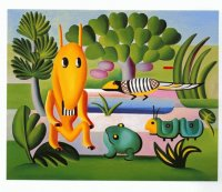 Meeting Friends by Tarsila do Amaral