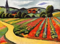 German landscape by August Macke