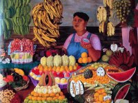 Fruit seller by Olga Costa  Mexico