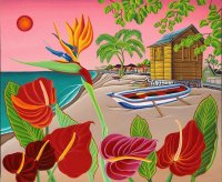 Flowers at the Beach by Raul del Rio