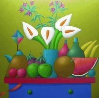 Fruit and Flowers by Xavier Portilla